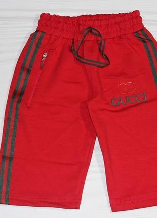 Трикотажные красные шорты gucci, турция