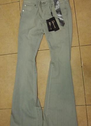 Snake milano джинсы  серый клеш