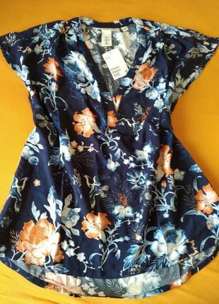 Шикарная блузка из вискозы hm