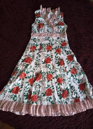 Яркое платье сарафан котон
