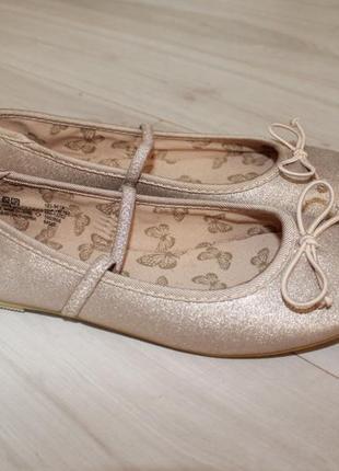 Сток! новые балетки туфли  f&f разм 36-37