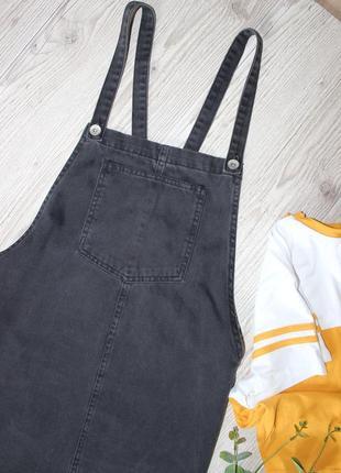 Черный джинсовый сарафан denimco2 фото