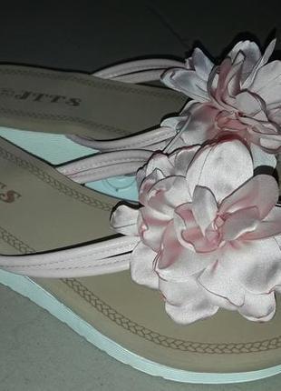 Шлепки шлепанцы женские цветок вьетнамки