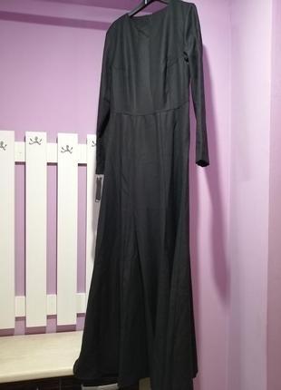 Супер стильное дизайнерское платье в пол шерсть