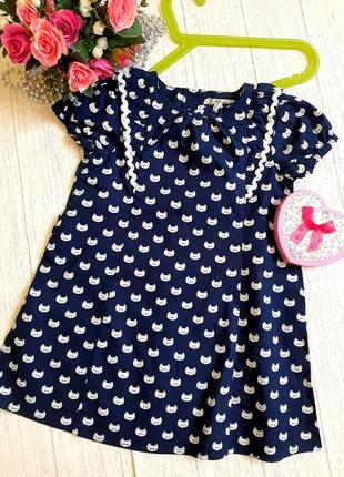 Хлопковое платье на 2-3 года