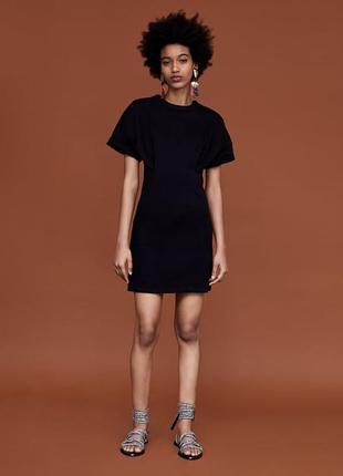 Платье из актуальной коллекции из джинса денима с молнией на спине