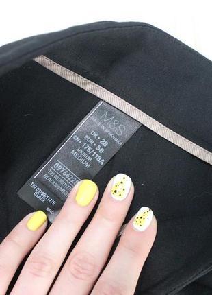 M&s.9xl.28 размер.идеальные черные брюки.5 фото