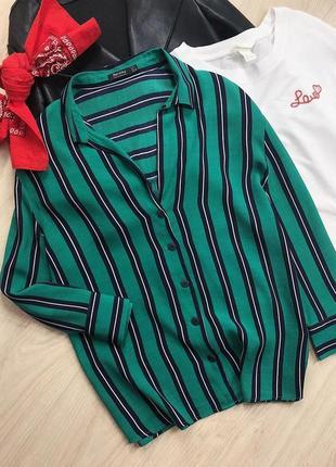 Трендовая лёгкая рубашка от bershka в полоску