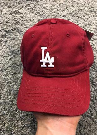 Бейсболка - la (бордовая)