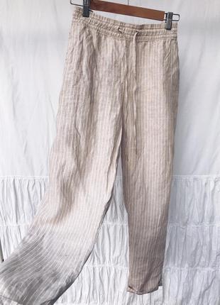 Лляні легкі штани від h&m
