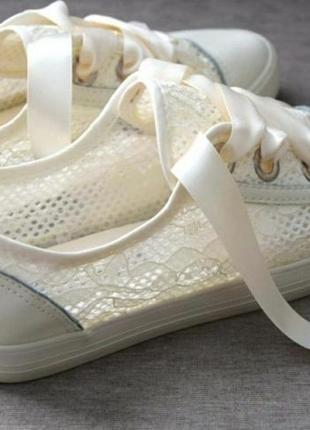 Летние кеды, мокасины,кроссовки,слипоны с ажурной вставкой!сетка!молочные!белые!