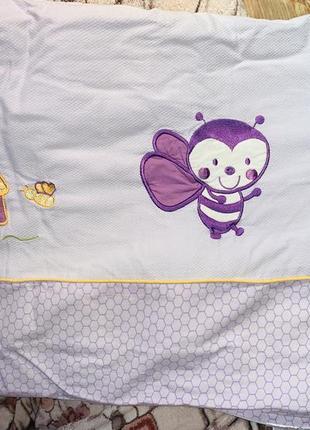 Детское постельное белье (качественние бортики для кроватки) комлект италия