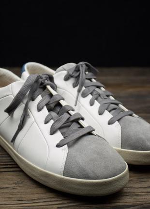 Мужские кожаные кроссовки geox respira оригинал р-421 фото