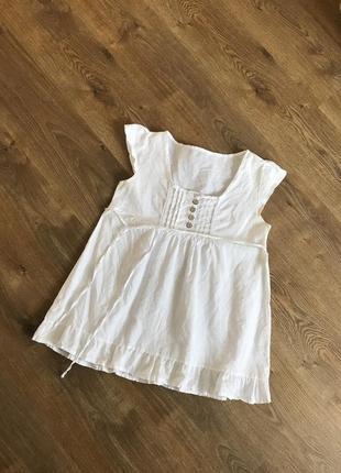 Льняная футболка майка туника