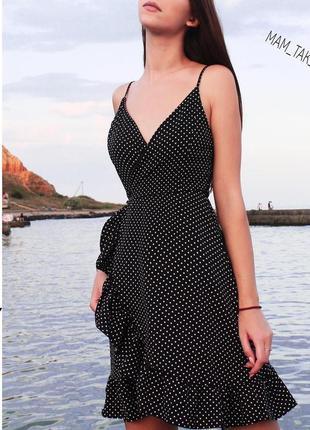 Очень легкое и нежное платье в горошек2 фото