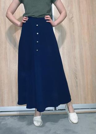 Фантастическая струящаяся юбка-трапеция в пол на высокой посадке in wear