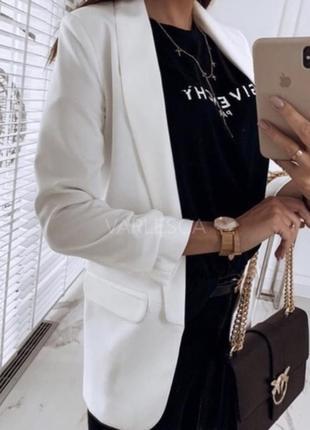 Пиджак жакет белый2 фото