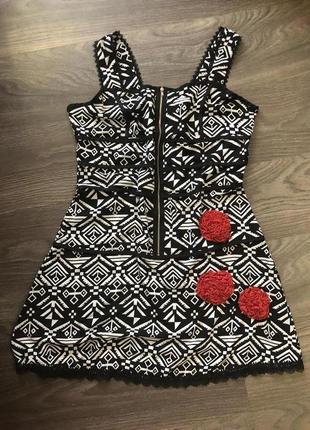 🔥 скидка только 3 дня! 🔥 летнее платье сарафан с геометрическим принтом и кружевом