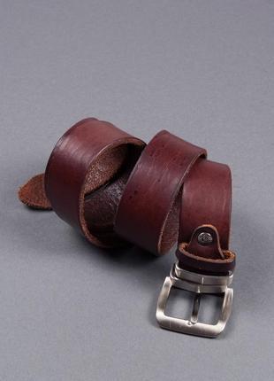 Коричневый кожаные ремень gp & max made in italy