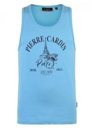 Майка pierre cardin printed blue