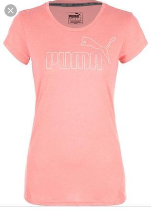 Персиковая футболка puma оригинал