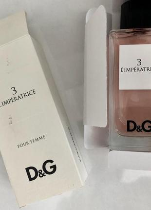 Новый парфюм оригинал dolce gabbana l'imperatrice 100ml императрица