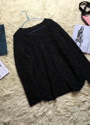 Стильный свитер лентами темно синего цвета