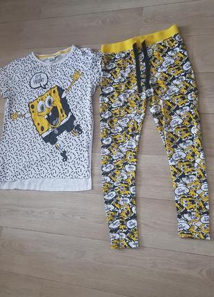 Пижамный костюм sponge bob atmosphere пижама лосины + футболка