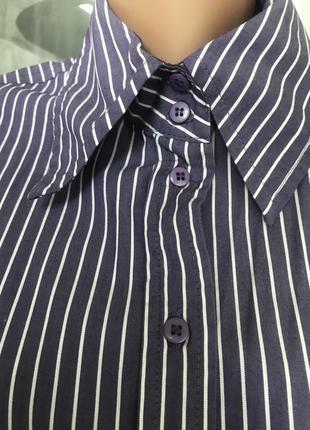 Женская рубашка в полосочку, идеальное состояние, отличная ткань