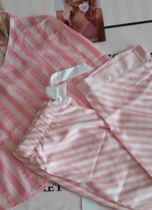 Сатиновая пижамка домашняя одежда victorias secret