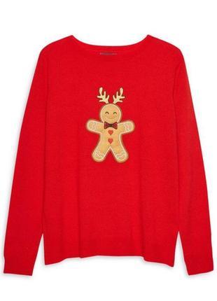 Тонкий свитер джемпер рождество