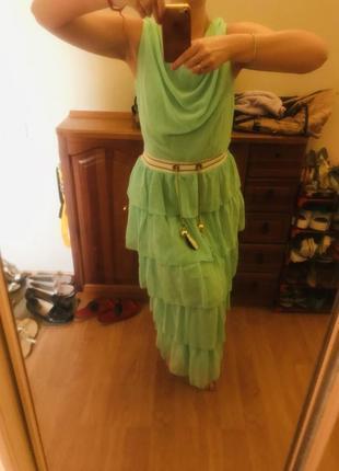Ультрамодное и нежное освежающее нарядное женское платье1 фото