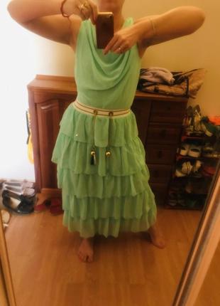 Ультрамодное и нежное освежающее нарядное женское платье2 фото