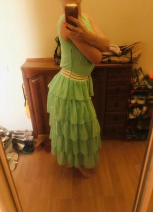 Ультрамодное и нежное освежающее нарядное женское платье3 фото