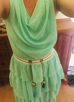 Ультрамодное и нежное освежающее нарядное женское платье4 фото