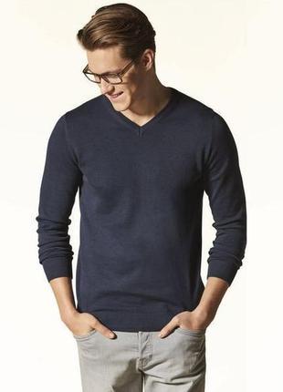 Трикотажный хлопковый пуловер.livergy/германия.48-50 м
