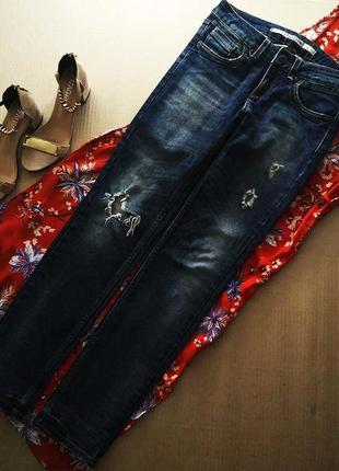 Актуальные джинсы baxter от topshop размер xs-s рваные