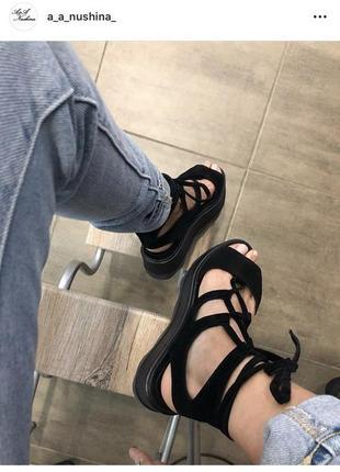 Дизайнерские замшевые сандали от a&a nushina