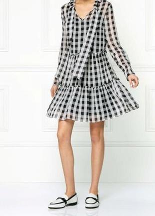 Платье шифоновое в клетку next размер 10