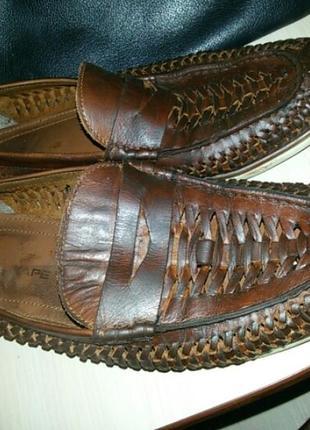 Кожаные туфли в сетку летние (кожа)  41 размер производитель индия