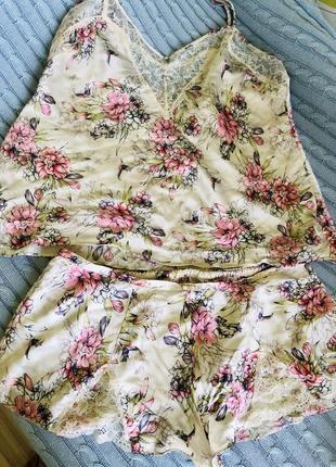 Летняя пижама из натурального шелка, эксклюзивная коллекция
