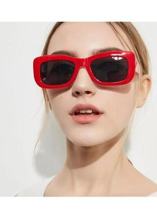 Красные солнцезащитные очки окуляри uv400