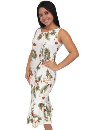 Фирменное яркое летнее платье-гаваи. 100% хлопок см.замеры