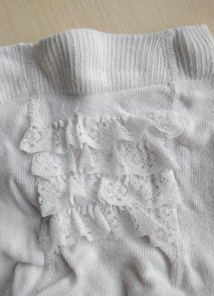 Mothercare красивые белые колготки колготы с рюшами на девочку