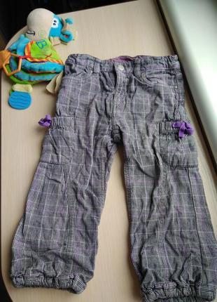 H&m штаны штанишки на девочку теплые осенние джинсы на 1-2 года