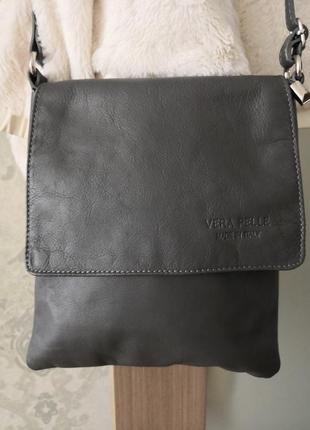 Мега стильная красивая сумка-планшет vera pelle1 фото