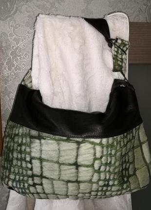Очень красивая кожаная сумка aleanto, италия