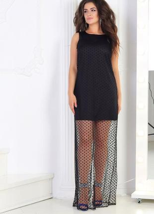 Маленькое черное платье с сеткой