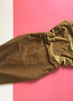Бомбезное бархатное платье на бретелях new look батал