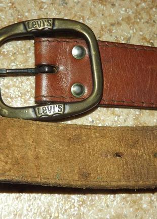 Винтажный кожаный ремень levis2 фото